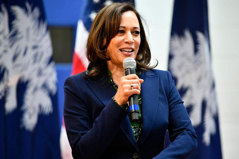 """Asked about coverage of undocumented residents, Kamala Harris, the senator from California and 2020 Democratic hopeful, said she would oppose any effort to """"deny in our country any human being from access to ... public health, period."""" (Photo: ASSOCIATED PRESS)"""