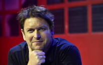 Celebrated chef and TV personality James Martin during rehearsals at London's Hammersmith Eventim Apollo before heading out on his very first UK tour.