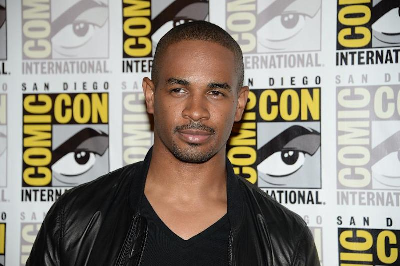 "Actor Damon Wayans Jr attends the press line for 20th Century Fox's ""Let's Be Cops"", on the second day of the 45th annual Comic-Con, in San Diego, California July 25, 2014 (AFP Photo/Robyn Beck)"