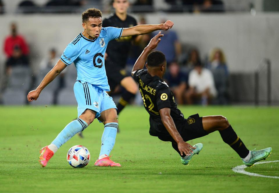 Hassani Dotson's stoppage time goal helped Minnesota United earn a road draw against LAFC at Banc of California Stadium.
