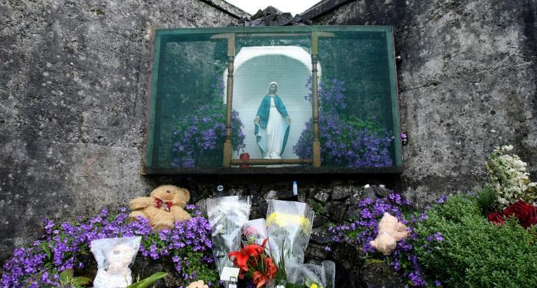 A shrine in Tuam commemorates up to 800 children who were allegedly buried at the site of a former home for unmarried mothers run by nuns
