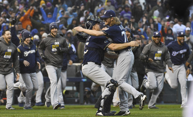 97d727600 Brewers sweep Rockies, advance to 1st NLCS since 2011