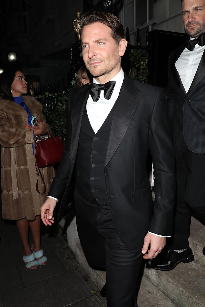 Bradley Cooper attends the Vogue x Tiffany Fashion & Film after party for the EE British Academy Film Awards 2020 at Annabel's on February 02, 2020 in London, England.