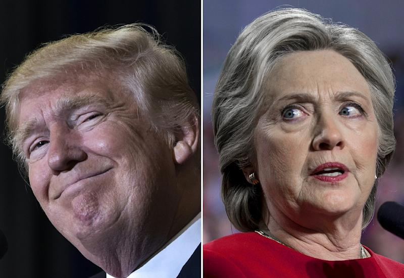 Republican Donald Trump defied months of negative polling to defeat Democrat Hillary Clinton in the November 2016 US presidential election (AFP Photo/MANDEL NGAN, Brendan Smialowski)