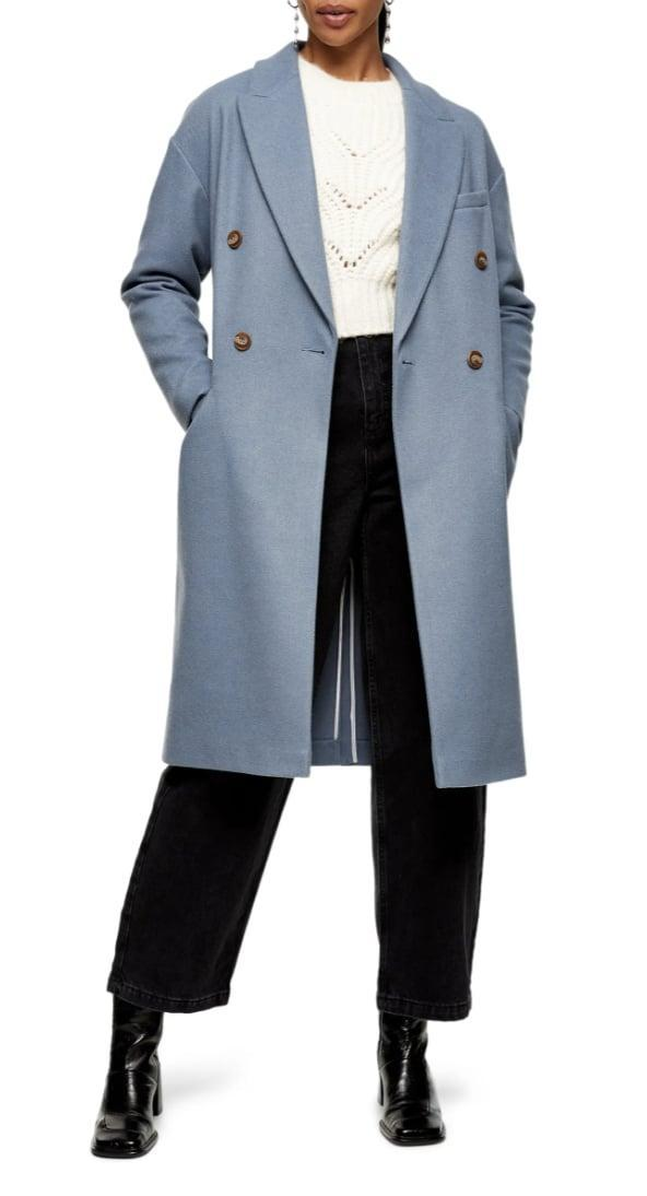 <p>This <span>Topshop Brooke Double Breasted Long Coat</span> ($135) is sleek and timeless.</p>