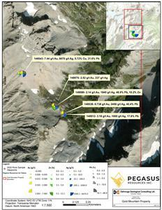 Figure 1: Gold Mountain Property sample locations