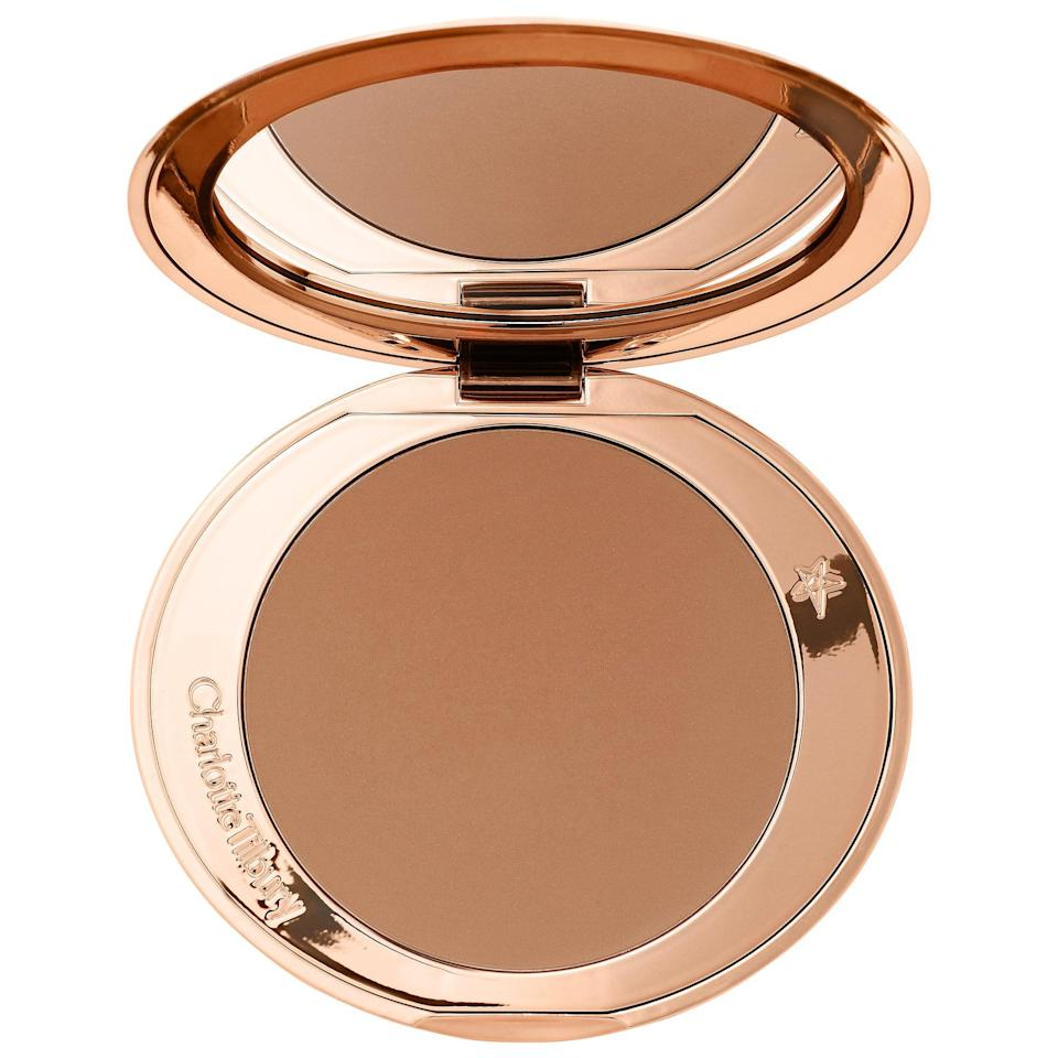 <p>Bronzer is always a must for warming up my complexion, and wearing a face mask is no exception. While most people probably can't see my sculpted cheekbones, I apply this one for me. The <span>Charlotte Tilbury Airbrush Matte Bronzer</span> ($55) is my favorite for a natural glow.</p> <p>Using a fluffy eyeshadow brush, I use the same bronzer shade as eyeshadow to warm up my eyes. This time-saving and multi-use hack is a staple in my makeup routine.</p>