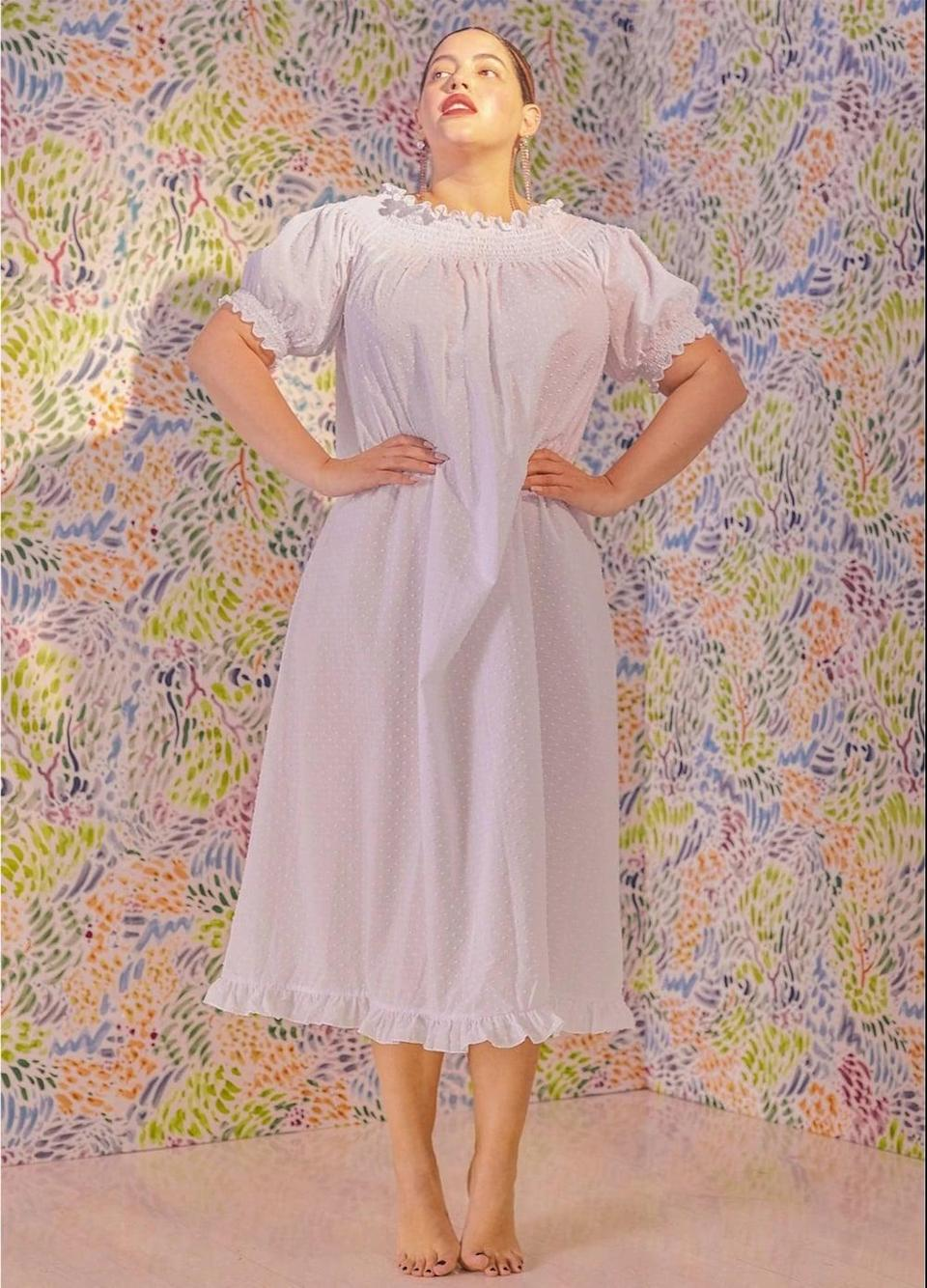 <p>If you want to feel like Sleeping Beauty, may we introduce you to this <span>Hill House Home The Caroline Nap Dress</span> ($100)? It can be worn with a high neck or pulled down off the shoulder, and it's what we think of when we dream of a nightgown.</p>