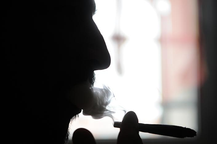 """The lead author of a British study which suggested that the risk of psychosis was five times higher for regular users of cannabis, warned about the growing use of """"skunk"""" -- a powerful type of cannabis (AFP Photo/Sebastien Bozon)"""
