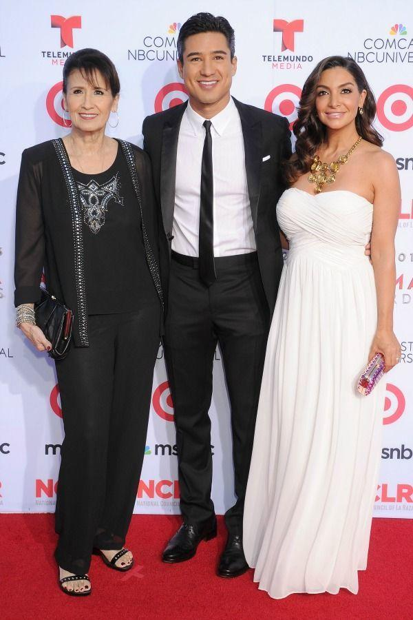 """<p>One thing's obvious: Mario got his pearly-white smile from mom Elvia Lopez. The pair walked the <a href=""""https://www.redbookmag.com/life/g2838/celebs-as-kids-on-the-red-carpet/"""" rel=""""nofollow noopener"""" target=""""_blank"""" data-ylk=""""slk:red carpet"""" class=""""link rapid-noclick-resp""""><u>red carpet </u></a> at 2013 NCLA ALMA Awards along with his wife, Courtney Mazza.</p>"""
