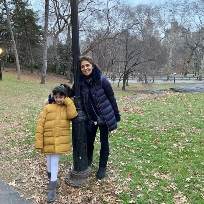 Neetu Kapoor with granddaughter, Samara