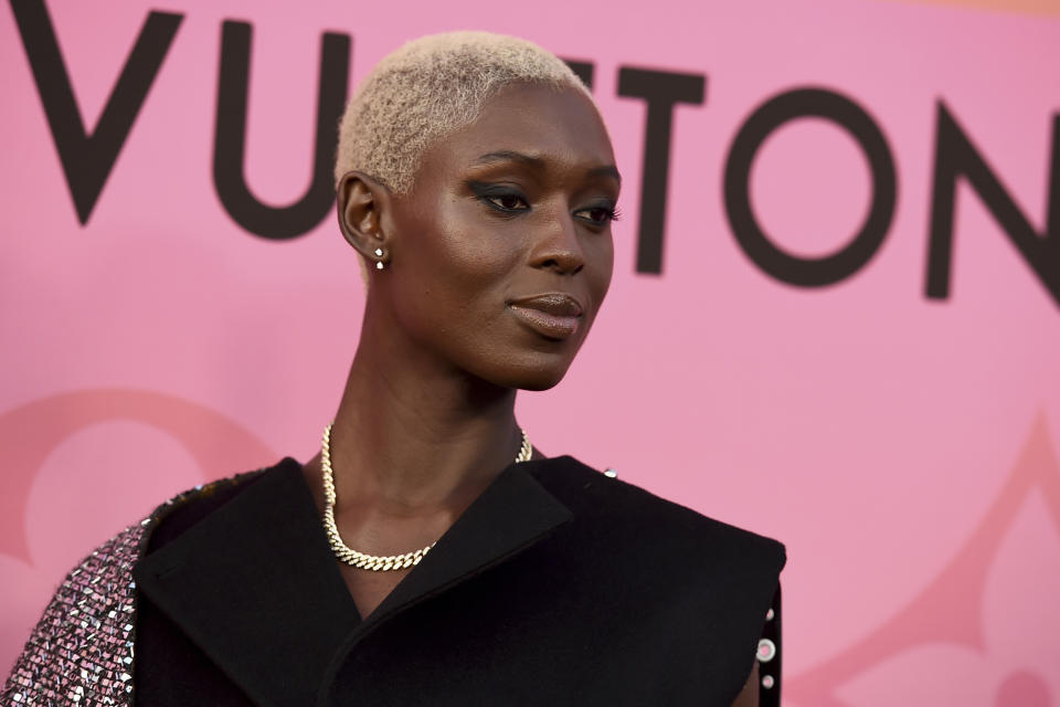 Jodie Turner-Smith arrives at the unveiling of Louis Vuitton X - Louis Vuitton in Collaboration on Thursday, June 27, 2019, in Beverly Hills, Calif. (Photo by Jordan Strauss/Invision/AP)