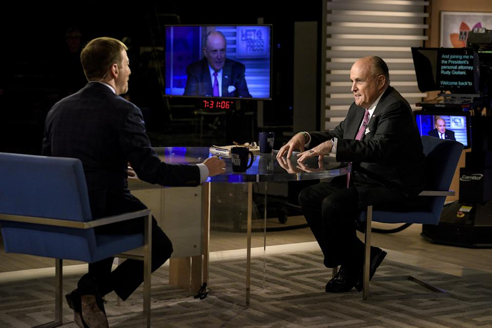 Rudy Giuliani, a personal lawyer for President Trump, appears on