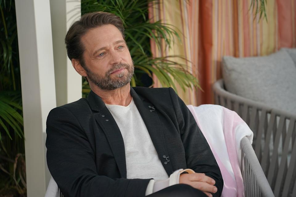 """BH90210:  Jason Priestley in the BH90210 """"Reunion"""" series premiere episode airing Wednesday, Aug. 7 (9:00-10:00 PM ET/PT) on FOX. (Photo by FOX Image Collection via Getty Images)"""