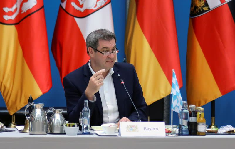 FILE PHOTO: Bavaria's PM Markus Soeder meets with other federal state Prime Ministers in Berlin