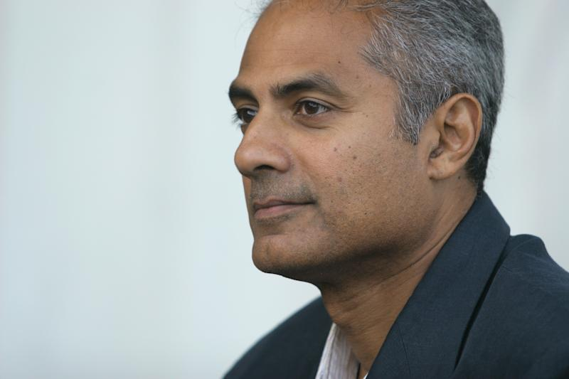 BBC journalist and presenter George Alagiah pictured at the Edinburgh International Book Festival where he talked about his new book entitled Home From Home about Sri Lanka. The Book Festival was the World's largest literary event and featured writers from around the world. The 2006 event featured around 550 writers and ran from 13-28 August. (Photo by Colin McPherson/Corbis via Getty Images)