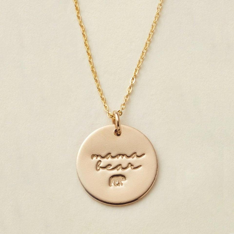 "<h2>Made By Mary ""Mama Bear"" Disc Necklace</h2><br><br><strong>Made By Mary</strong> Mama Bear Disc Necklace- 5/8"", $, available at <a href=""https://go.skimresources.com/?id=30283X879131&url=https%3A%2F%2Fwww.madebymary.com%2Fcollections%2Fhomepage%2Fproducts%2Fmama-bear-disc-necklace-5-8"" rel=""nofollow noopener"" target=""_blank"" data-ylk=""slk:Made By Mary"" class=""link rapid-noclick-resp"">Made By Mary</a>"