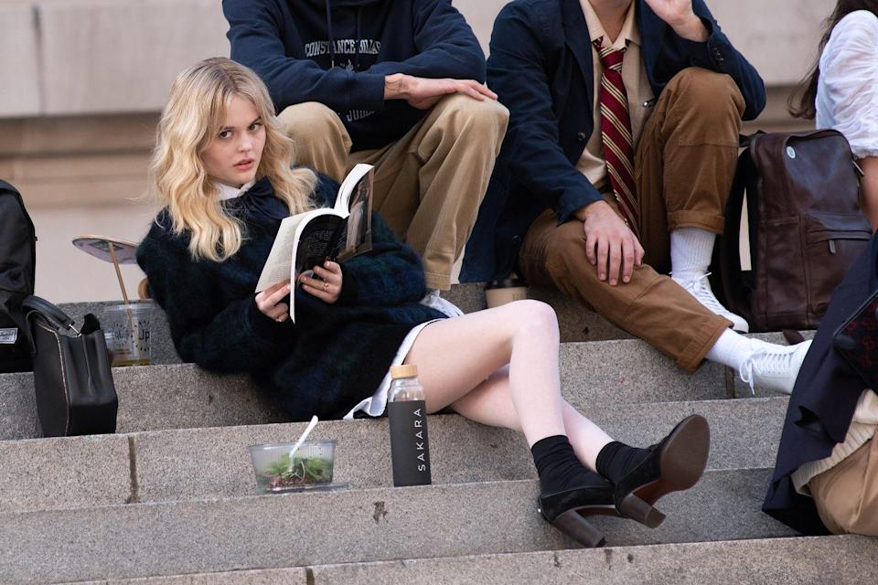 <p>Lounging on the steps of the Met, Nov. 10. .</p>