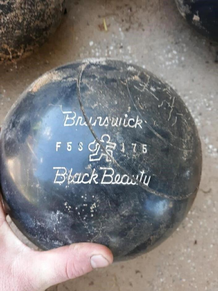Olson said many of the balls he uncovered were in rough condition, and that each ball had two spiral grooves cut into them.