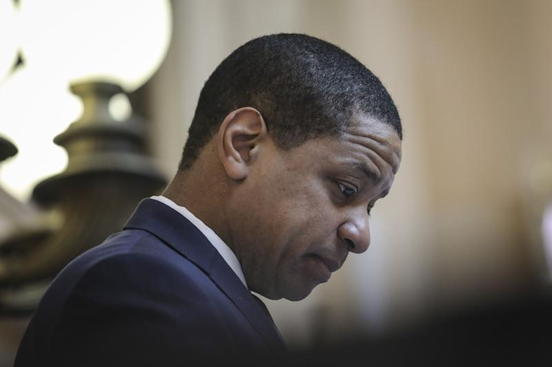 Virginia Lt. Governor Justin Fairfax presides over the Senate at the Virginia State Capitol, February 7, 2019 in Richmond, Virginia. Virginia state politics are in a state of upheaval.