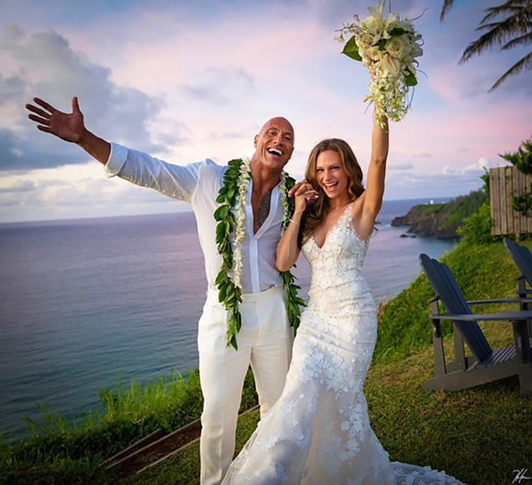 """Surprise! The <em>Jumanji</em> star announced on the morning of Aug. 19 that he tied the knot with longtime girlfriend and singer/music producer Hashian in an intimate ceremony in Hawaii.  """"We do. August 18th, 2019. Hawaii. Pōmaikaʻi (blessed) @laurenhashianofficial❤️@hhgarcia41📸,"""" Johnson captioned a <a href=""""https://www.instagram.com/p/B1V5m7WFfUy/?utm_source=ig_embed"""">stunning photo slideshow</a> that shows the couple smiling with their hands up in excitement in the first photo and sharing a sweet kiss in the second.  The husband and wife first met in 2006 while the actor was filming <em>The Game Plan</em> and started dating in 2007. They share <a href=""""https://people.com/parents/the-rock-johnson-fatherhood-quotes/"""">daughters Jasmine and Tiana</a>."""