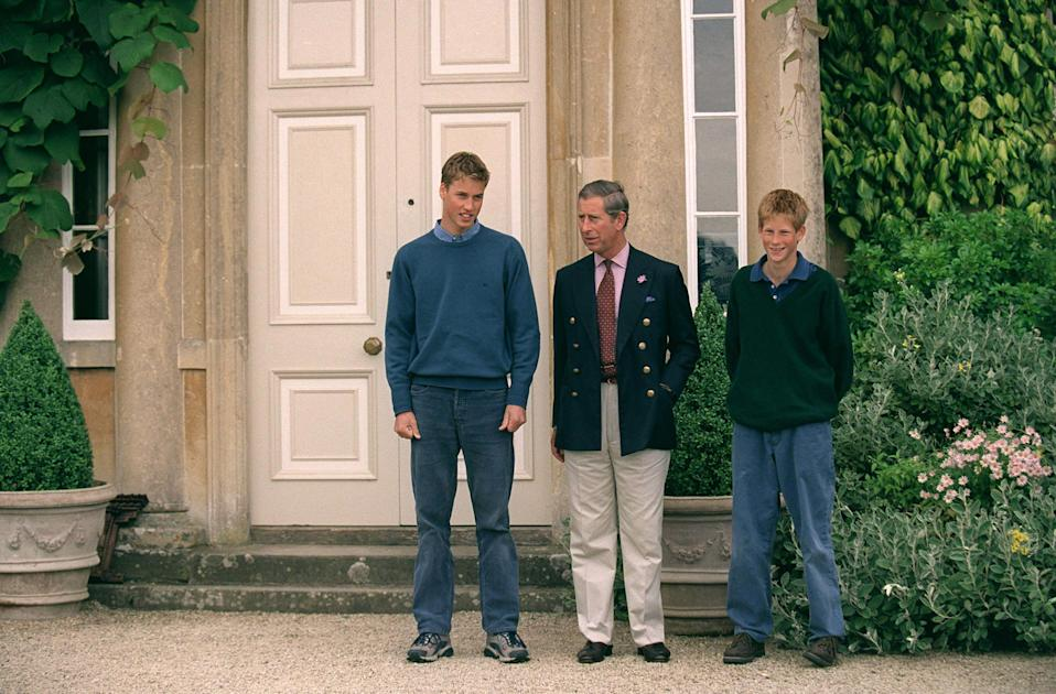 HIGHGROVE, UNITED KINGDOM - JULY 26:  Prince Charles With Prince William And Prince Harry At Highgrove, Gloucestershire.  (Photo by Tim Graham Photo Library via Getty Images)