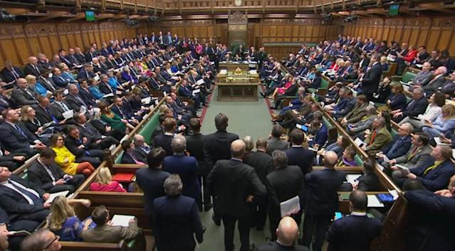 Prime Minister's Questions in the House of Commons (PA)