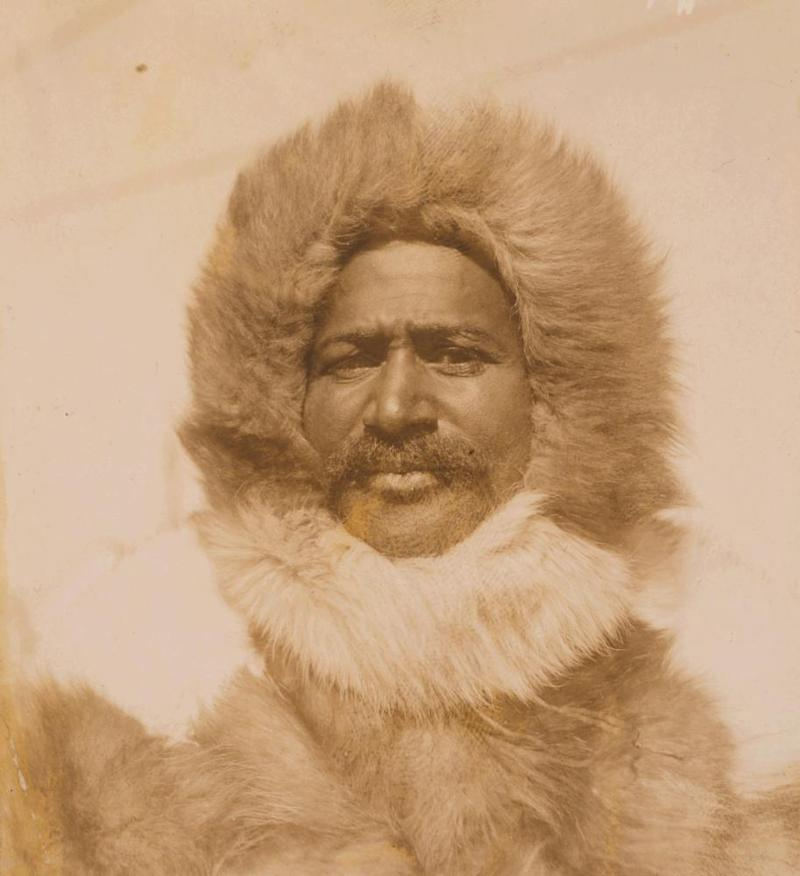 Matthew Henson in his Arctic gear in 1909.
