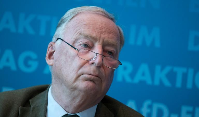 Far-right AfD party leader Alexander Gauland is facing accusations of paraphrasing Adolf Hitler after taking aim at a 'globalised class' he claimed threatens all that is good in his 'homeland'