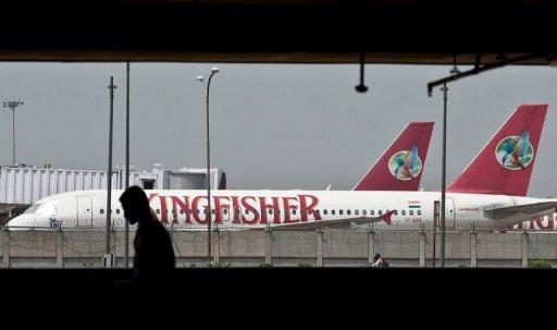 Kingfisher Airlines posted a net loss of 11.52 billion rupees ($21 million) in the three months to March
