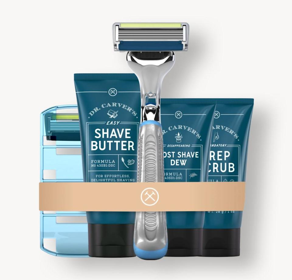 """Like the name says, <a href=""""https://fave.co/3eh2OmG"""" target=""""_blank"""" rel=""""noopener noreferrer"""">Dollar Shave Club</a> all about shaving — but the brand also carries products like an <a href=""""https://fave.co/3iS5bQ8"""" target=""""_blank"""" rel=""""noopener noreferrer"""">Oil Control Face Wash</a> and <a href=""""https://fave.co/2OcCX4L"""" target=""""_blank"""" rel=""""noopener noreferrer"""">Acne Eraser</a>. It's best known for its razor subscription service, though. You can try out the brand'sstarter sets and getfull-size refills of your favorite products every month or up to three times a year. You can add or remove products before your box arrives as well.<br /><br />Check out <a href=""""https://fave.co/3eh2OmG"""" target=""""_blank"""" rel=""""noopener noreferrer"""">Dollar Shave Club's subscription service</a>."""