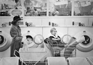<p>Like this one, which had a laundromat attached. The idea was specifically tailored to busy moms, who wanted to get two household chores done at once. </p>