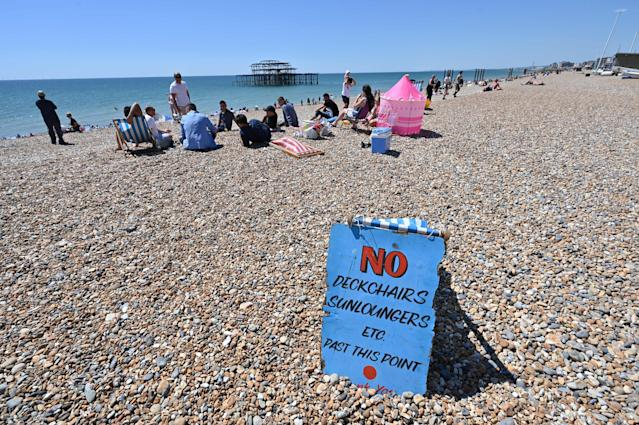 UK beaches are preparing for an influx of visitors as a heatwave hits Britain and lockdown measures continue to ease. (Glyn Kirk/AFP via Getty Images)
