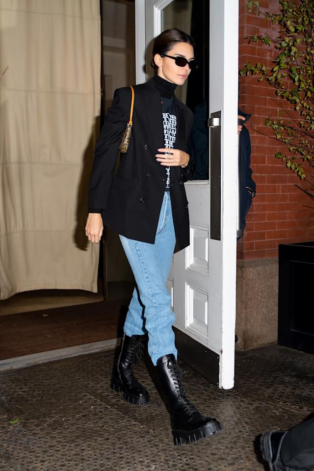 Leave it to Kenny to master the art of tucking thick blue jeans into combat boots.