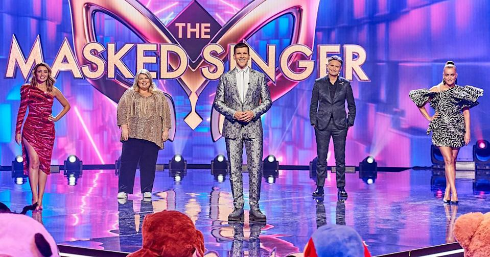 The Masked Singer finale was interrupted by an angry security guard at Urzila Carlson's hotel, where she was filming. Photo: Ten