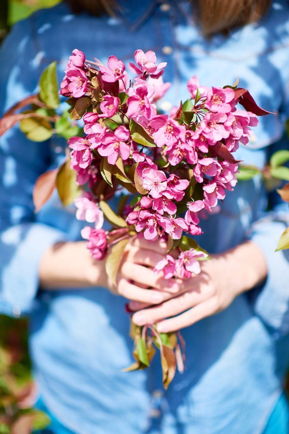 """<p>Make use of the pretty flowers you've grown in your yard all spring, or set out to a nearby flower farm to cut some fresh blooms. Once you're home, arrange them in a <a href=""""https://www.countryliving.com/diy-crafts/g4461/mason-jar-flower-arrangements/"""" rel=""""nofollow noopener"""" target=""""_blank"""" data-ylk=""""slk:pretty Mason jar"""" class=""""link rapid-noclick-resp"""">pretty Mason jar</a> or a <a href=""""https://www.countryliving.com/entertaining/g207/floral-displays-0606/"""" rel=""""nofollow noopener"""" target=""""_blank"""" data-ylk=""""slk:DIY flower arrangement"""" class=""""link rapid-noclick-resp"""">DIY flower arrangement</a>.</p>"""