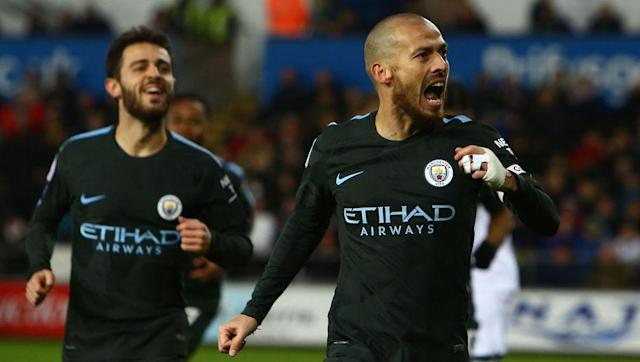 <p>Back to his incisive best, David Silva completes the midfield triumvirate for the Sky Blues.</p> <br><p>The Spaniard is enjoying a second wind in his career with his passing abilities off the charts and in many ways is the perfect Guardiola player in retaining possession.</p> <br><p>Unsurprisingly, Silva has played a key hand in City's success, picking up five goals and eight assists in the league alone.</p>