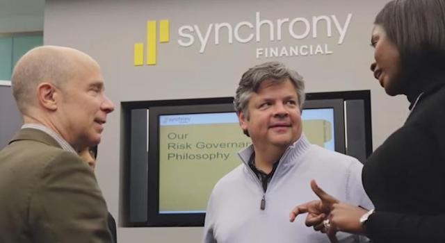 <p>Synchrony Financial<br> Industry: Diversified Financials<br> Fortune 500 Rank: 185<br> Revenues: $15,122,000,000<br> (YouTube) </p>