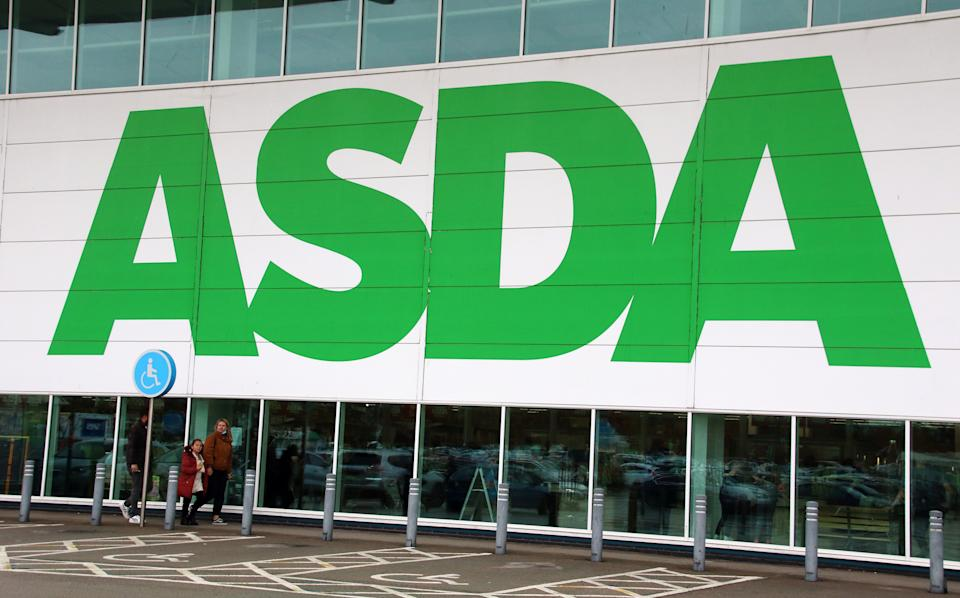 Asda logo seen at one of their company's superstores. Photo: Keith Mayhew/SOPA/LightRocket via Getty Images