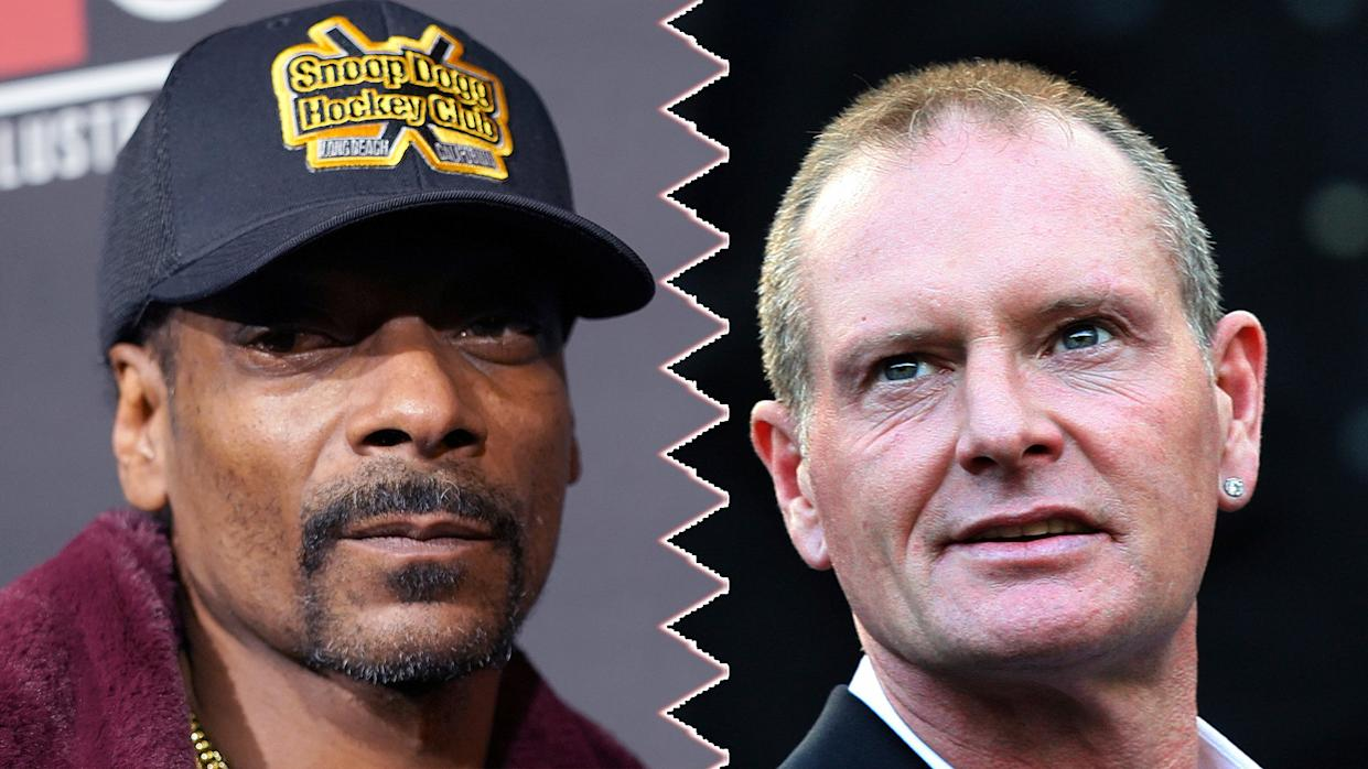 Snoop Dogg has upset fans of Paul Gascoigne for using him as a poster boy for alcohol abuse. (Credit: PA/AP)