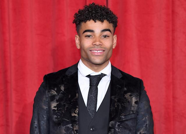 Malique Thompson-Dwyer played Prince McQueen in <em>Hollyoaks</em> between 2016 and 2019. (Getty Images)