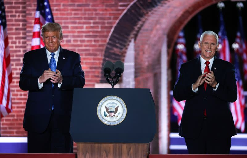 In 'law-and-order' speech, U.S. Vice President Pence warns against Biden win