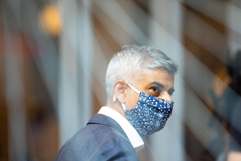 EDITORIAL USE ONLY Mayor of London Sadiq Khan in Oxford Street, London, where he visited shops and restaurants to find out how they are coping after he sent a letter to the Prime Minister on the huge challenges currently being faced by West End businesses.
