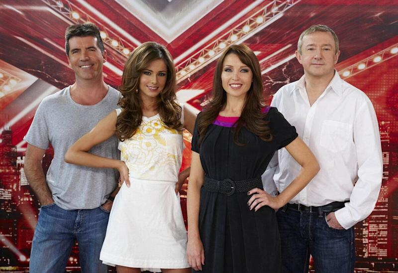 The golden era: Cheryl Cole replaces Sharon Osbourne, joining Simon, Dannii and Louis.