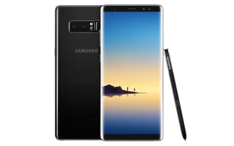 The Note 8 comes in four colours: black, gold, blue and orchid grey - Credit: Samsung