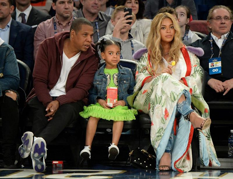 JAY-Z, Blue Ivy and Beyoncé in February