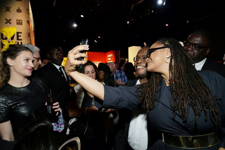 """Ava DuVernay, pictured with fans in June 2019, celebrated 16 nominations for her Netflix miniseries """"When They See Us"""""""