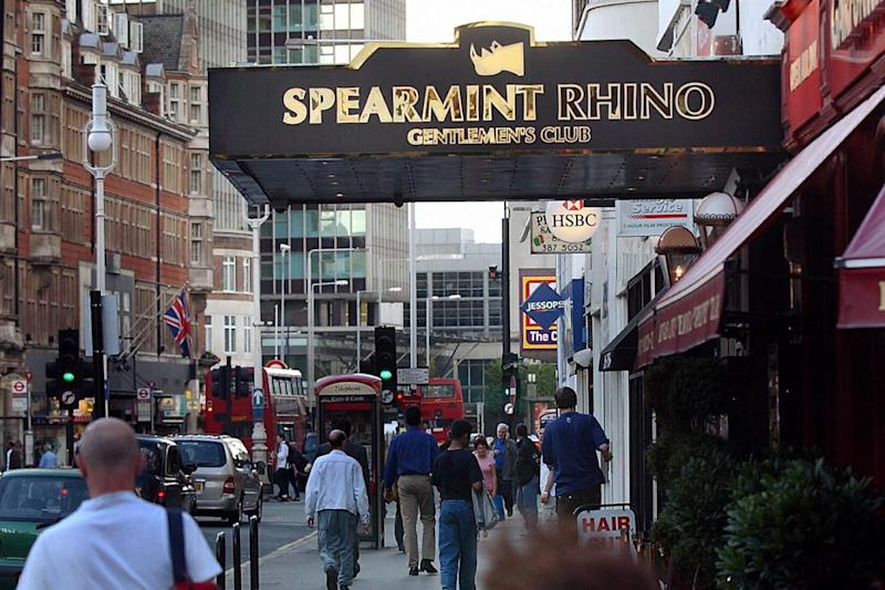 Ms Hines gave birth in the street outside the Spearmint Rhino Gentlemen's Club in central London (PA)
