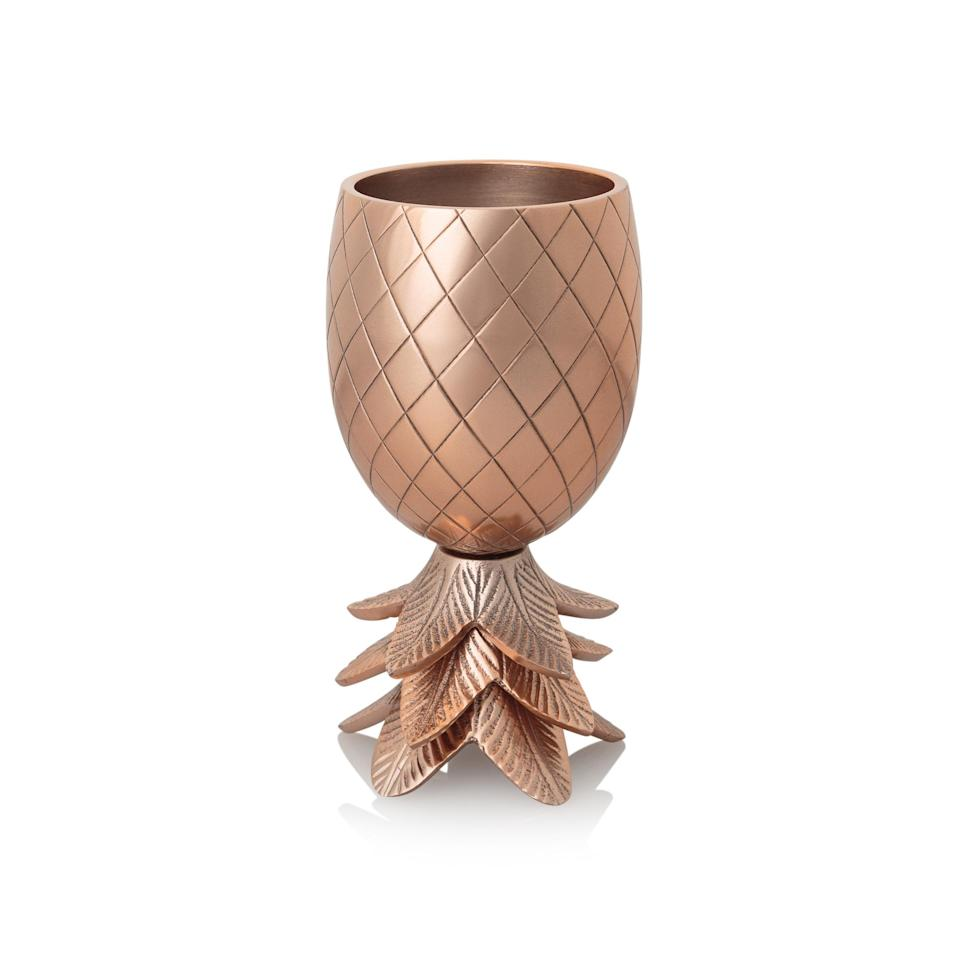 <p>As we all know, pineapples have been all the rage this past year and this fruity goblet will definitely jazz up any bar cart. </p>