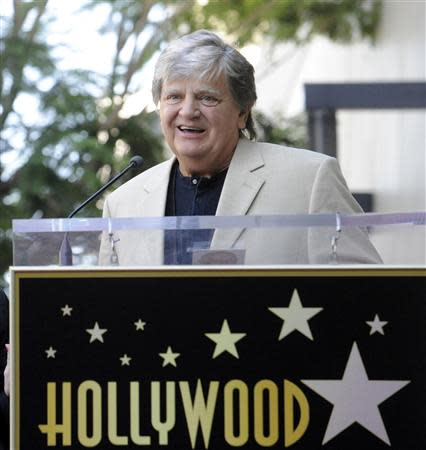 File photo of musician Phil Everly speaking during a ceremony on the Hollywood Walk of Fame in Hollywood